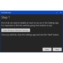 Ứng dụng NoDefender – Thật dễ dàng để Disable Windows Defender trong Windows 10